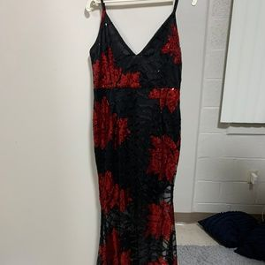Red and Black Sequins